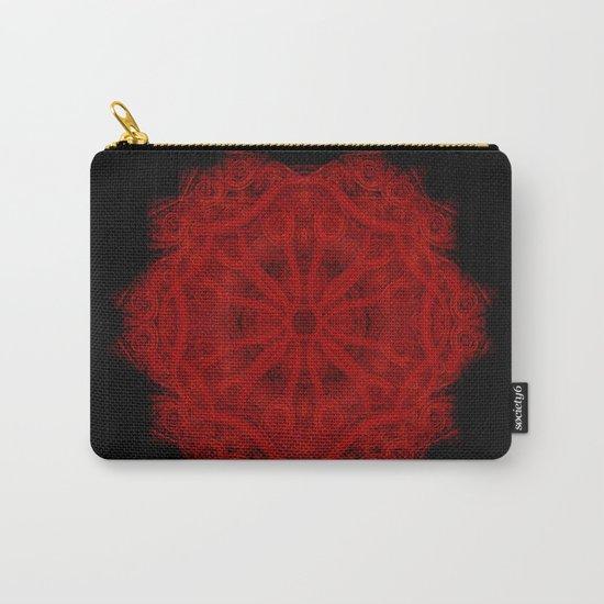 Red Velvet Mandala Carry-All Pouch