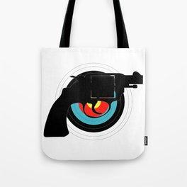 Hand Gun Target Tote Bag