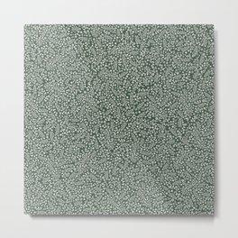 Micro Floral - Moss Metal Print
