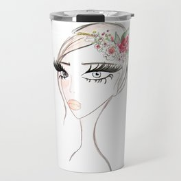 Flowers in  the hair Travel Mug