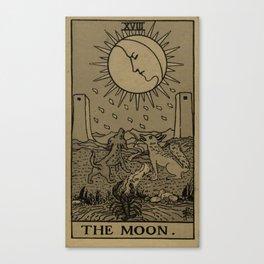 Tarot Moon Canvas Print