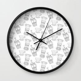 Coffee Brewing Pattern Wall Clock