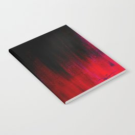 Red and Black Abstract Notebook