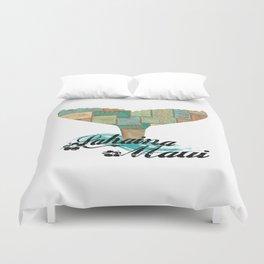 Lahaina,Maui Tapa Tribal Whales Tail Duvet Cover