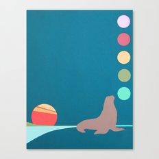 Seal. Sun. Balls. Canvas Print