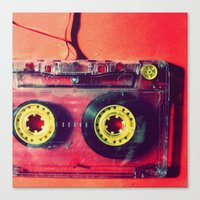 cassette Canvas Prints featuring Cassette by The 80s