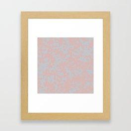 Soft Pink & Gray Floral Silhouette Pattern - Broken but Flourishing Framed Art Print