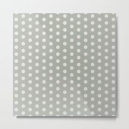 Gray Grey Polka Dots Metal Print