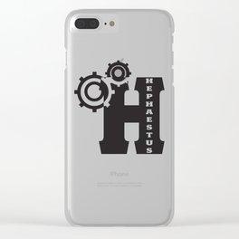 Hephaestus Logo Clear iPhone Case
