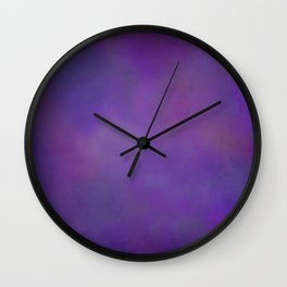 Abstract Soft Watercolor Gradient Ombre Blend 14 Dark Purple and Light Purple Wall Clock