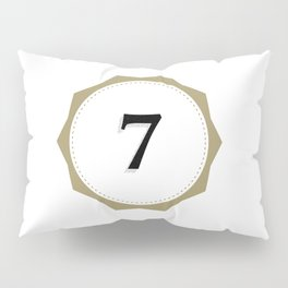 Vintage Number 7 Monogram Pillow Sham