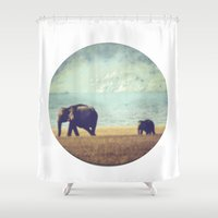 mom Shower Curtains featuring mom by HaaM