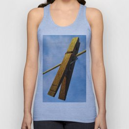 clothes pin Unisex Tank Top