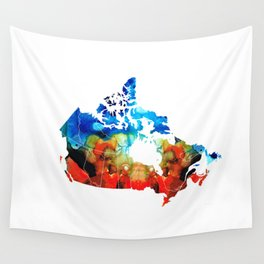 Canada - Canadian Map By Sharon Cummings Wall Tapestry