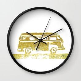 The Bus print Wall Clock