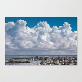 Storm Clouds over Westport, WA Canvas Print
