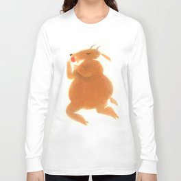 """Une chèvre mange..."" Book cover Long Sleeve T-shirt"