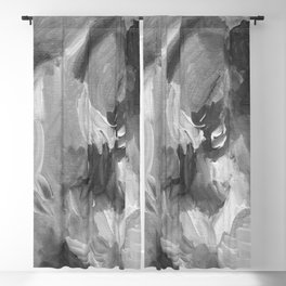 Soft Grey Abstract Blackout Curtain