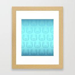 Seahorse Love Framed Art Print