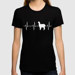 Llama Heartbeat T Shirt T-shirt