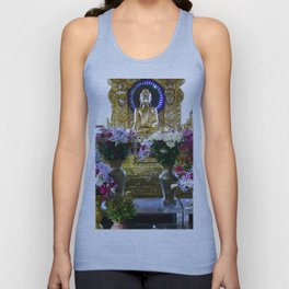 Buddha Shrine a Kuthodaw Pagoda, Myanmar Unisex Tank Top