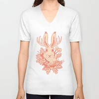 jackalope V-neck T-shirts featuring Jackalope Tattoo by jackalopebuddy