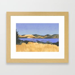 Lake in Marin County Framed Art Print