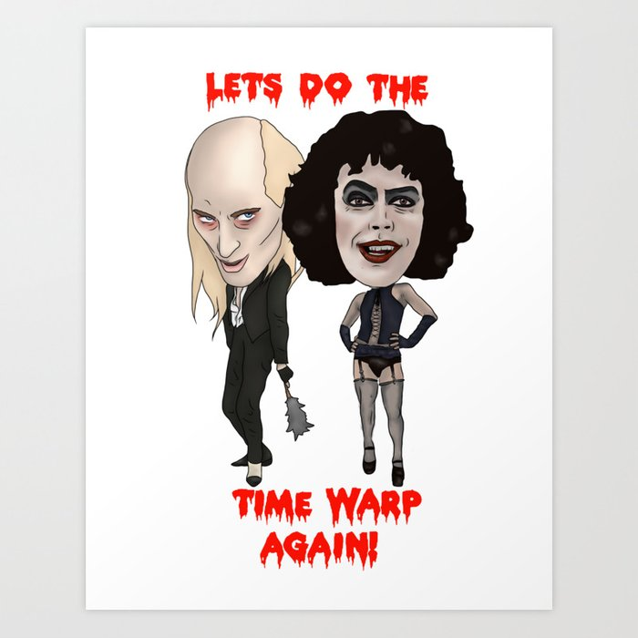 Rocky Horror Picture Show Time Warp Art Print by ...