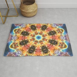 Space Mandala no30 - Rainbow Space Nebula Rug
