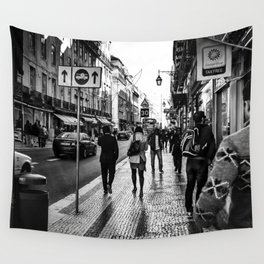 One Way Afternoon (Lisbon) Wall Tapestry