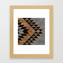 Urban Tribal Pattern 10 - Aztec - Concrete and Wood Framed Art Print