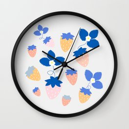 SWEET STRAWBERRIES Wall Clock