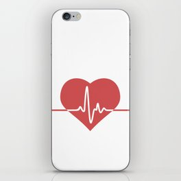 Heart with Cardiogram iPhone Skin