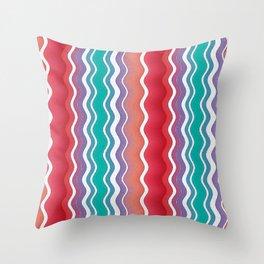 Fiesta Summer Waves Watercolor Throw Pillow