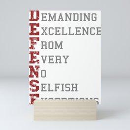 Defense Definition Mini Art Print