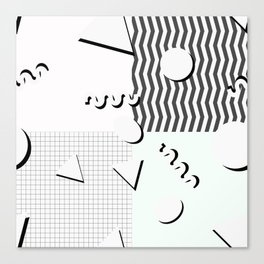 Pale 80s Pattern Canvas Print