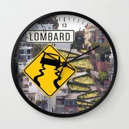 Lombard Street - San Francisco Wall Clock