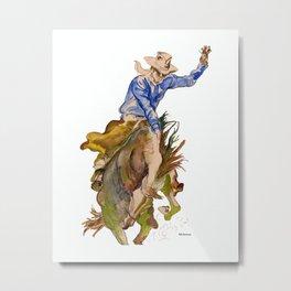 Ride em Cowboy by Peter Melonas Metal Print