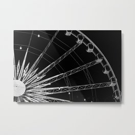 Black and White Neon Lights- 3 of 8 Metal Print