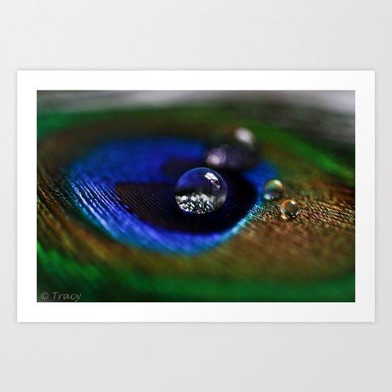 Peacock Bokeh Art Print