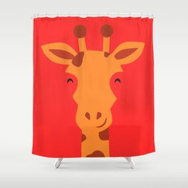 Smiling Giraffe by cammie Shower Curtain