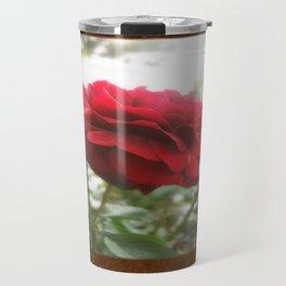 Red Rose with Light 1 Blank P3F0 Travel Mug