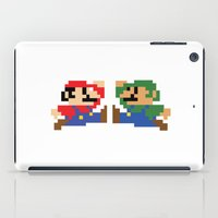 mario iPad Cases featuring Mario by Megan Twisted