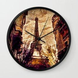 Paris mon amour Wall Clock