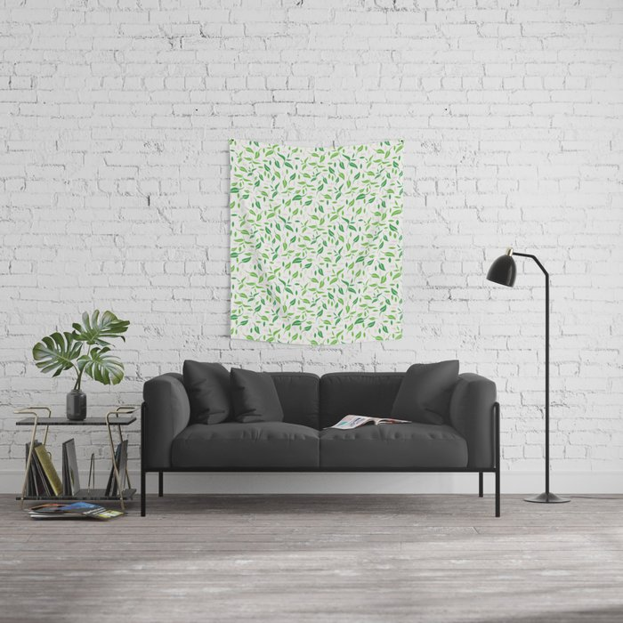 Tea Leaves Pattern Wall Tapestry
