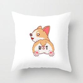 Nothin' But Corgi Cute Pun For Certified Dog Lover T-shirt Design Paws Animals Animal Paw Pet Throw Pillow