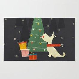 Little White Christmas Westie Rug