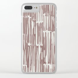 Simply Bamboo Brushstroke Red Earth on Lunar Gray Clear iPhone Case