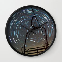 Chair Lift Spiral Wall Clock