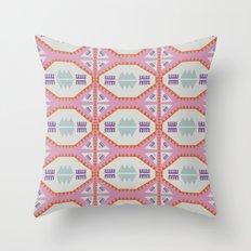 Pink Geometric Quilt Throw Pillow